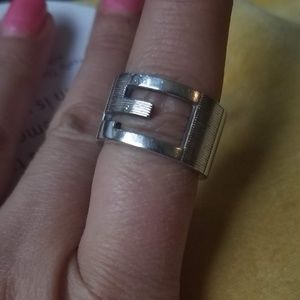 Gucci sterling silver g ring - 7.5